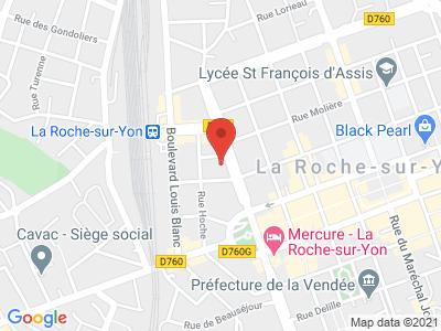 Plan Google Stage recuperation de points à La Roche-sur-Yon