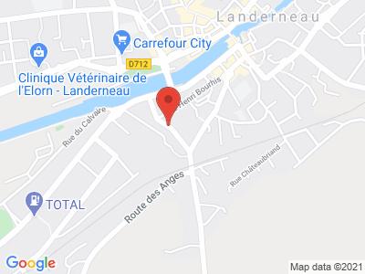 Plan Google Stage recuperation de points à Landerneau proche de Morlaix