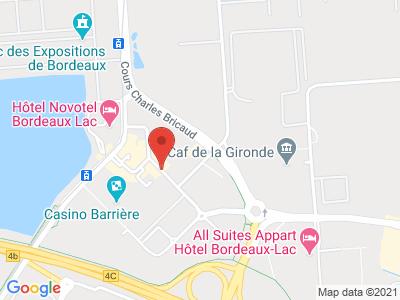 Plan Google Stage recuperation de points à Bordeaux proche de Bègles