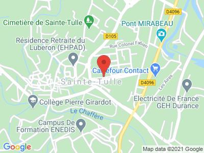 Plan Google Stage recuperation de points à Sainte-Tulle proche de Manosque