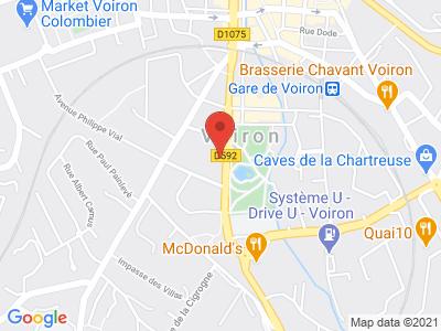 Plan Google Stage recuperation de points à Voiron proche de Moirans