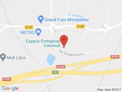 Plan Google Stage recuperation de points à Montpellier