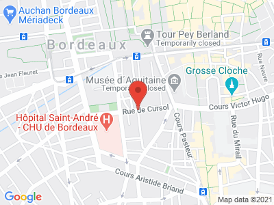 Plan Google Stage recuperation de points à Bordeaux proche de Talence