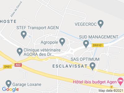 Plan Google Stage recuperation de points à Estillac proche de Boé