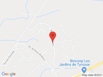 Plan Google Stage recuperation de points à Saint-Vincent-de-Tyrosse