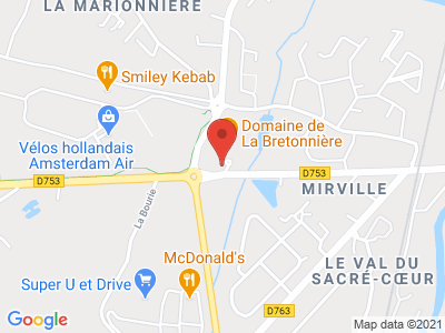 Plan Google Stage recuperation de points à Boufféré proche de Les Herbiers