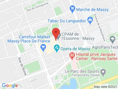 Plan Google Stage recuperation de points à Massy proche de Verrières-le-Buisson