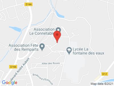 Plan Google Stage recuperation de points à Dinan proche de Saint-Malo