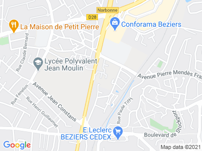 Plan Google Stage recuperation de points à Béziers proche de Villeneuve-lès-Béziers