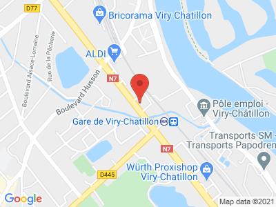 Plan Google Stage recuperation de points à Viry-Châtillon proche de Juvisy-sur-Orge