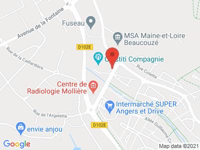 Plan Google Stage recuperation de points à Beaucouzé proche de Angers