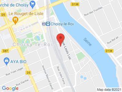 Plan Google Stage recuperation de points à Choisy-le-Roi proche de Villeneuve-le-Roi