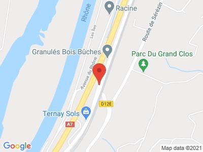 Plan Google Stage recuperation de points à Ternay proche de Vienne