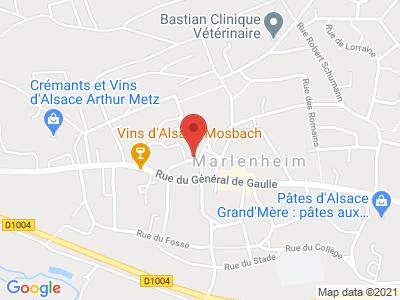 Plan Google Stage recuperation de points à Marlenheim proche de Strasbourg