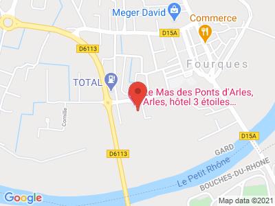 Plan Google Stage recuperation de points à Fourques proche de Arles