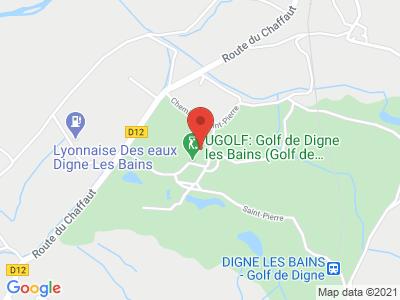 Plan Google Stage recuperation de points à Digne-les-Bains