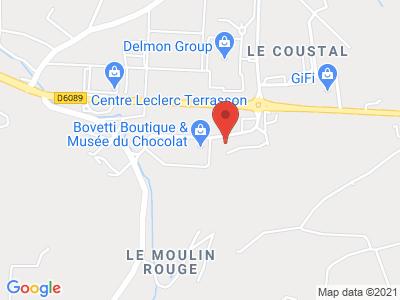 Plan Google Stage recuperation de points à Terrasson-Lavilledieu proche de Périgueux