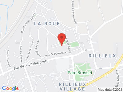Plan Google Stage recuperation de points à Rillieux-la-Pape proche de Vaulx-en-Velin