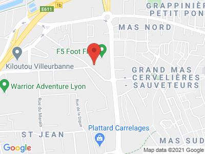 Plan Google Stage recuperation de points à Vaulx-en-Velin proche de Lyon