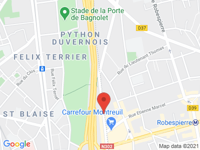 Plan Google Stage recuperation de points à Paris proche de Ivry-sur-Seine