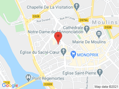 Plan Google Stage recuperation de points à Moulins proche de Nevers