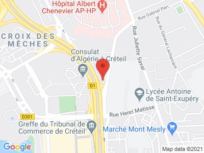 Plan Google Stage recuperation de points à Créteil proche de Joinville-le-Pont