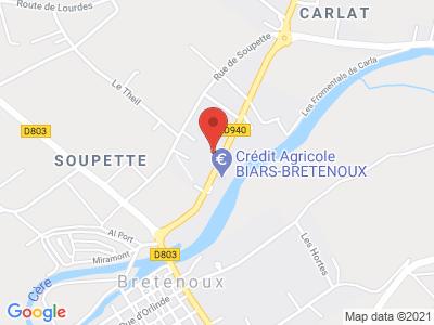 Plan Google Stage recuperation de points à Biars-sur-Cère proche de Aurillac