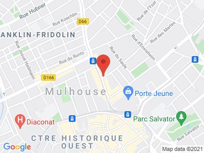 Plan Google Stage recuperation de points à Mulhouse proche de Kingersheim