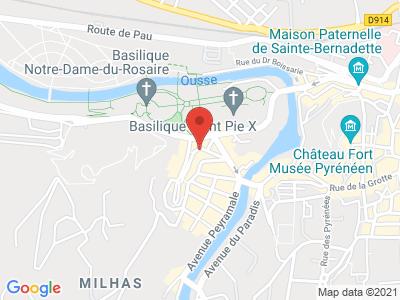 Plan Google Stage recuperation de points à Lourdes