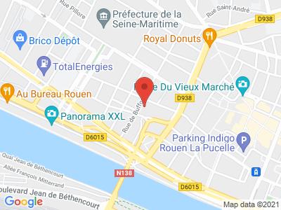 Plan Google Stage recuperation de points à Rouen proche de Saint-Étienne-du-Rouvray