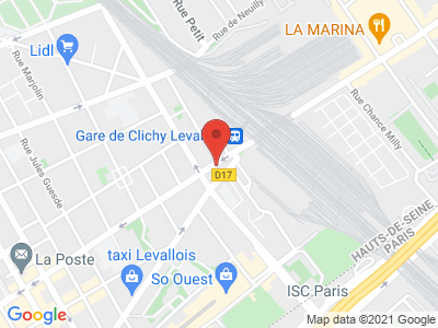 Plan Google Stage recuperation de points à Levallois-Perret proche de Bois-Colombes