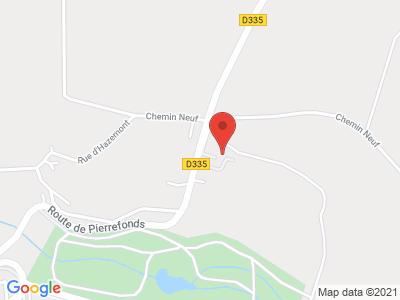 Plan Google Stage recuperation de points à Crépy-en-Valois proche de Compiègne