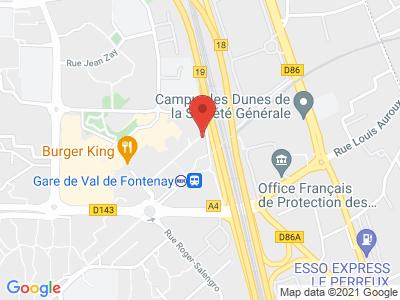 Plan Google Stage recuperation de points à Fontenay-sous-Bois proche de Joinville-le-Pont
