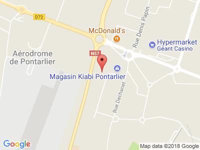 Plan Google Stage recuperation de points à Pontarlier