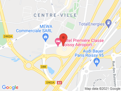 Plan Google Stage recuperation de points à Roissy-en-France proche de Aulnay-sous-Bois