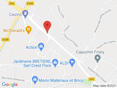 Plan Google Stage recuperation de points à Crest proche de Valence