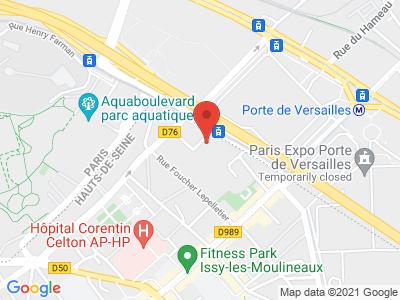 Plan Google Stage recuperation de points à Issy-les-Moulineaux proche de Montrouge