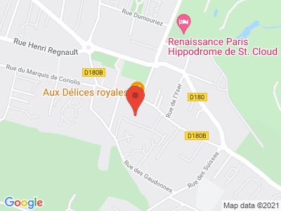 Plan Google Stage recuperation de points à Rueil-Malmaison proche de Suresnes