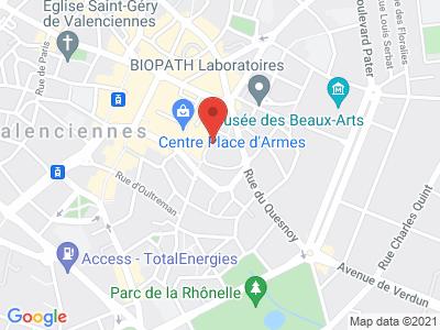 Plan Google Stage recuperation de points à Valenciennes proche de Fontaine-Notre-Dame