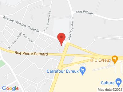Plan Google Stage recuperation de points à Évreux
