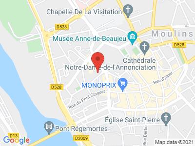 Plan Google Stage recuperation de points à Moulins
