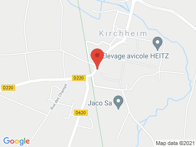 Plan Google Stage recuperation de points à Kirchheim proche de Strasbourg