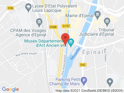Plan Google Stage recuperation de points à Épinal proche de Luxeuil-les-Bains