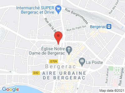 Plan Google Stage recuperation de points à Bergerac proche de Ginestet
