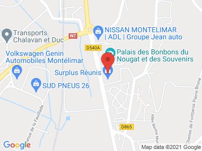 Plan Google Stage recuperation de points à Montélimar proche de Saulce-sur-Rhône