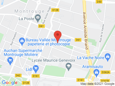 Plan Google Stage recuperation de points à Montrouge proche de Ivry-sur-Seine