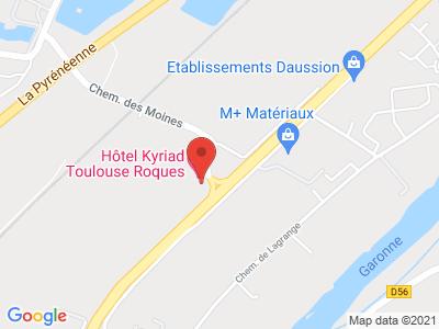 Plan Google Stage recuperation de points à Roques proche de Cugnaux