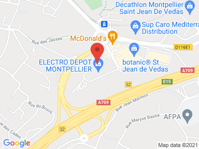 Plan Google Stage recuperation de points à Saint-Jean-de-Védas proche de Montpellier