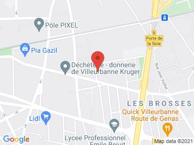 Plan Google Stage recuperation de points à Villeurbanne proche de Bron