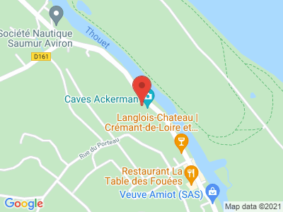 Plan Google Stage recuperation de points à Saumur proche de Chinon